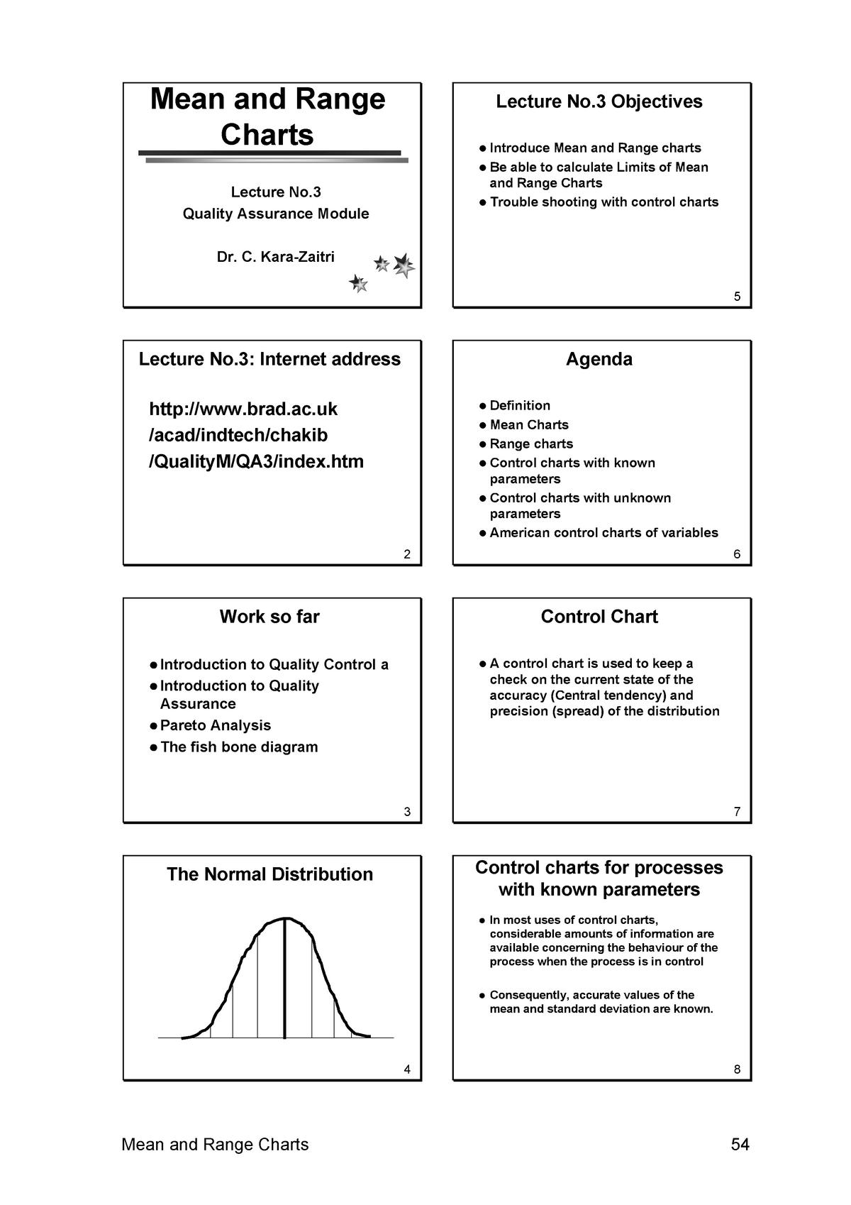 Mean and Range Charts - MKTG 6170 Marketing Management - StuDocu