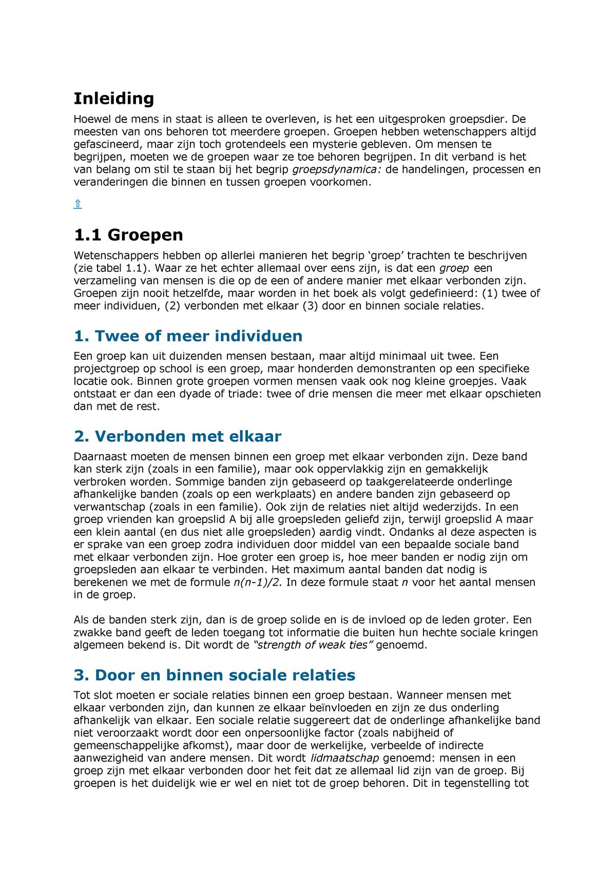 7790d6255c7 Samenvatting Group Dynamics 09 Jan 2019 - StudeerSnel.nl
