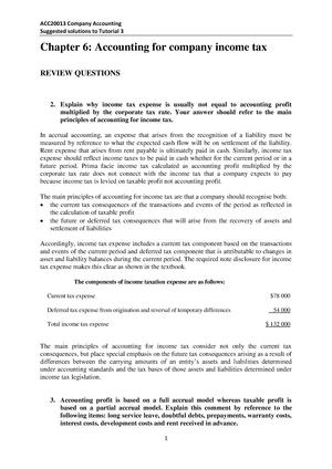 Tutorial Work 3 Acc20004 Financial Accounting Studocu