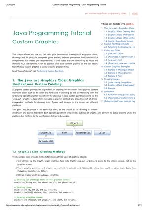 Custom Graphics Programming - Java Programming Tutorial - SE