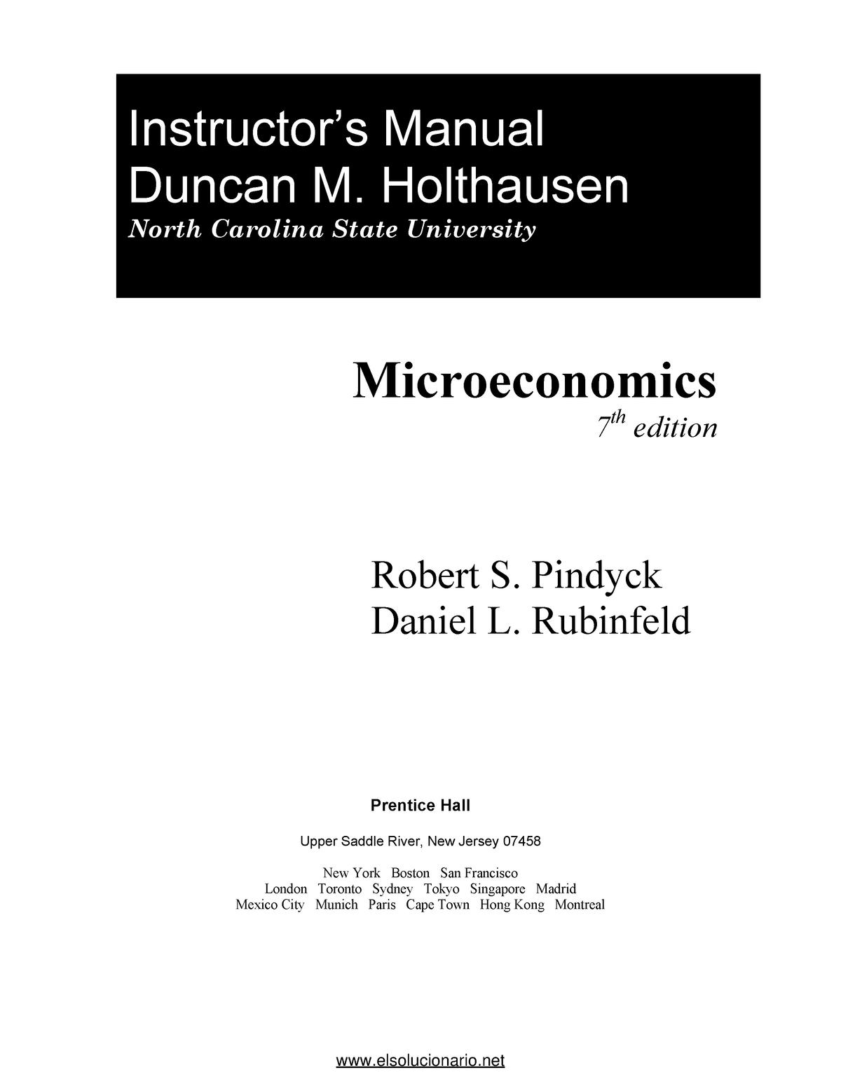 Edicion 7 epub pindyck microeconomia