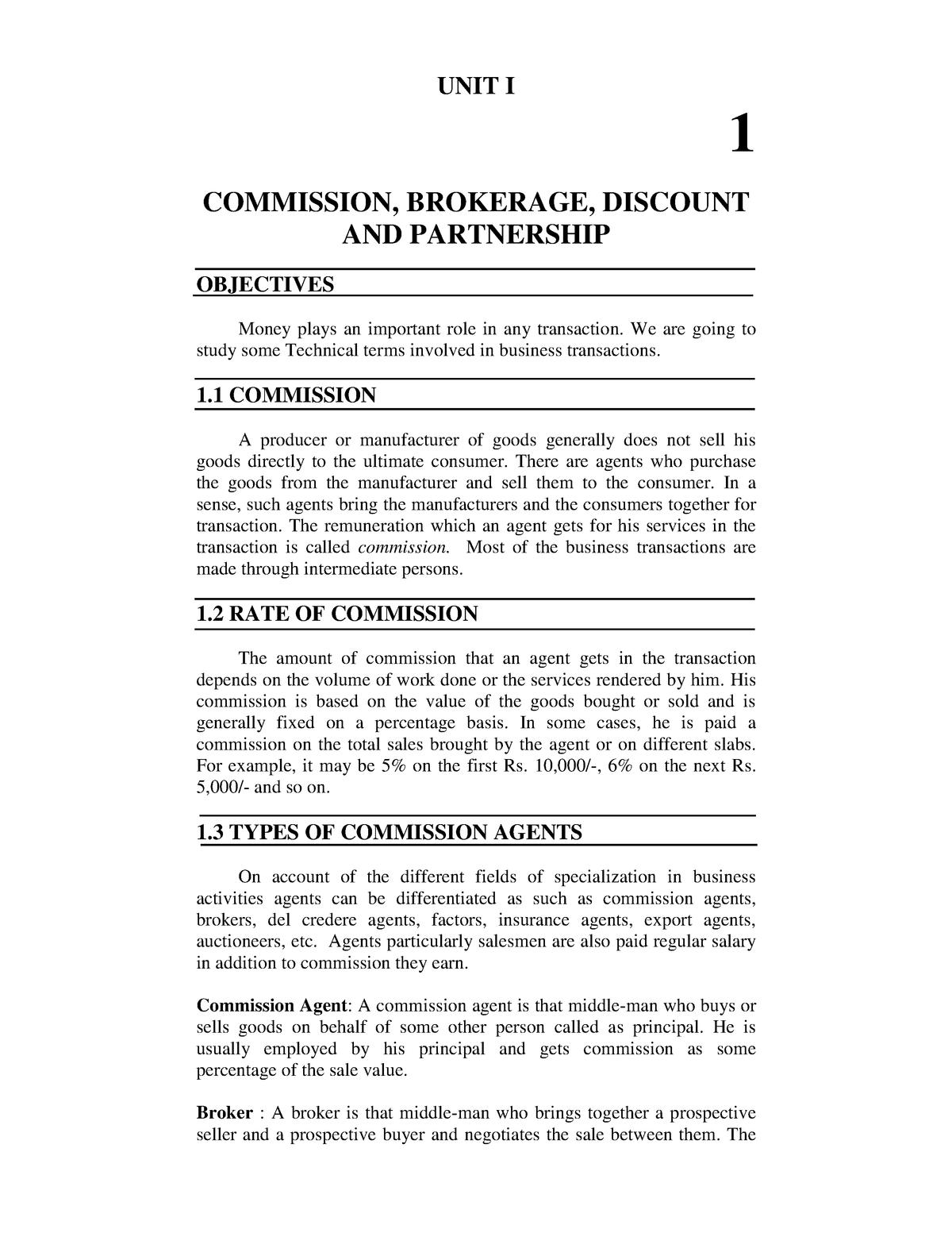 F Y B Com  Mathematics - MUM-COMMA-004: Banking And Finance