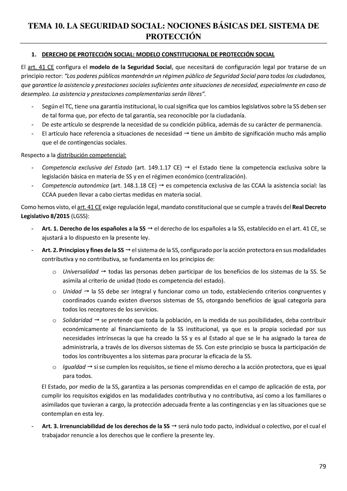 Tema 10 Laboral Derecho Individual Del Trabajo Studocu