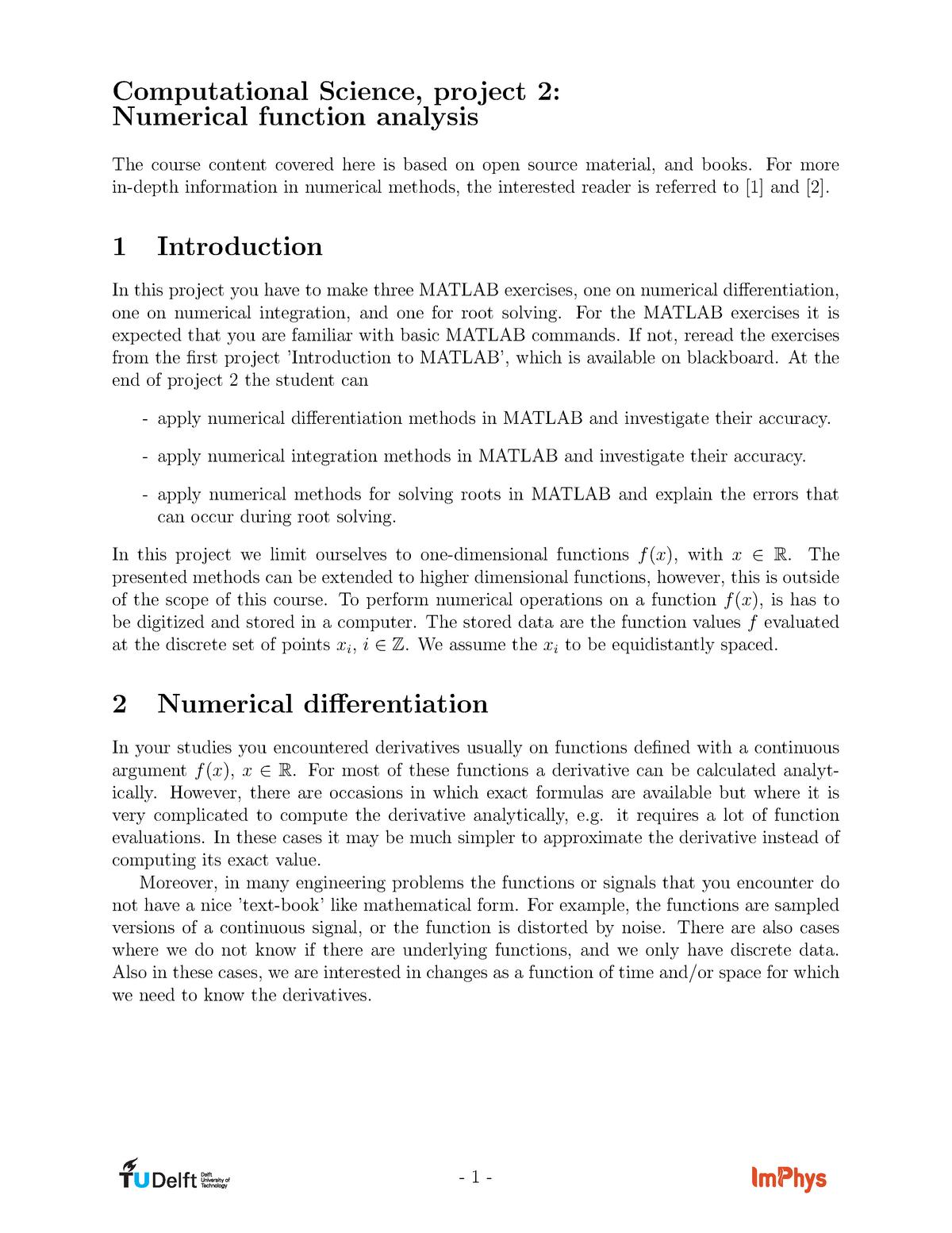 TN2513-Numerical function analysis - TN2513: Computational