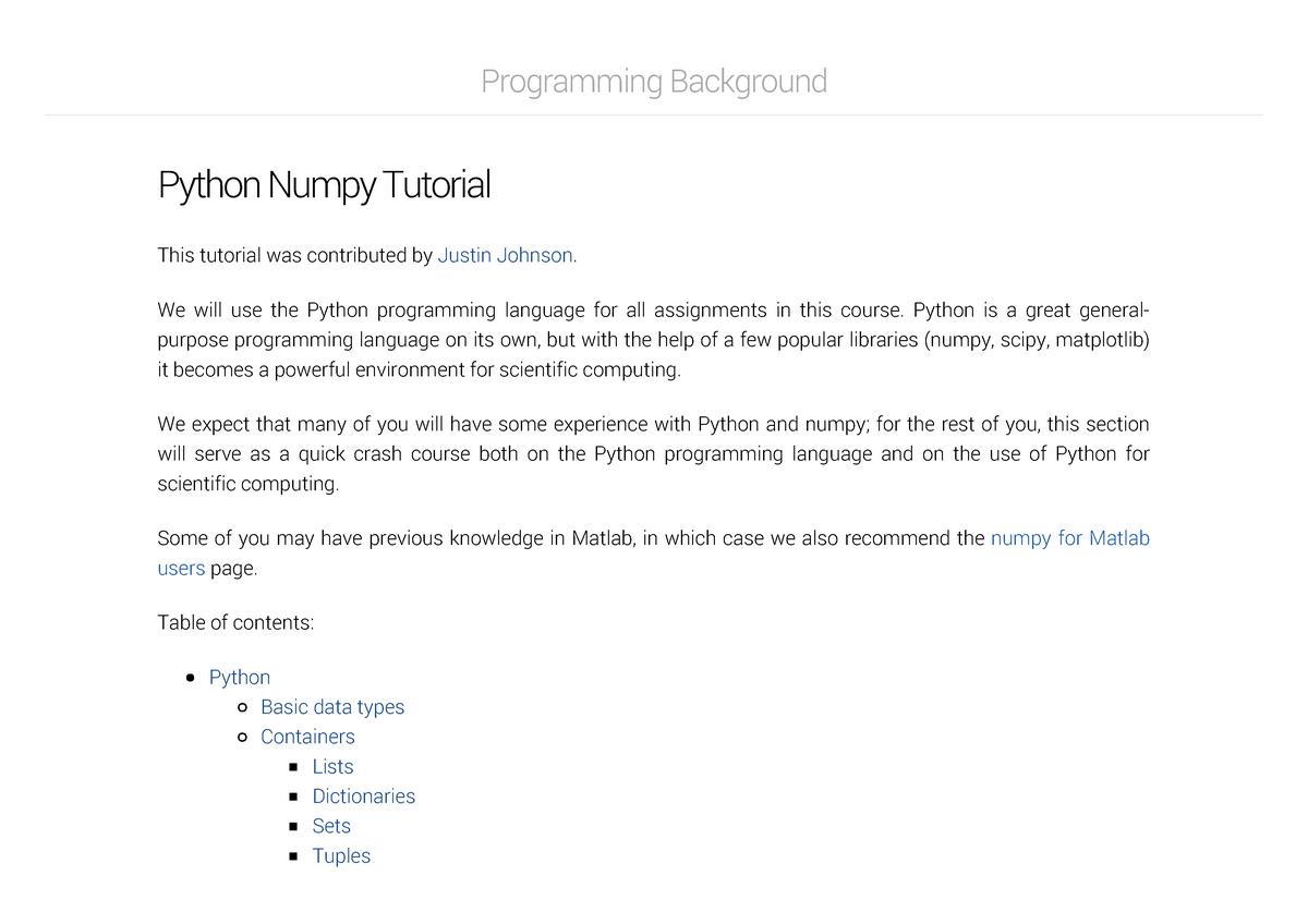 Python Numpy Tutorial - IFN680: Advanced Topics in
