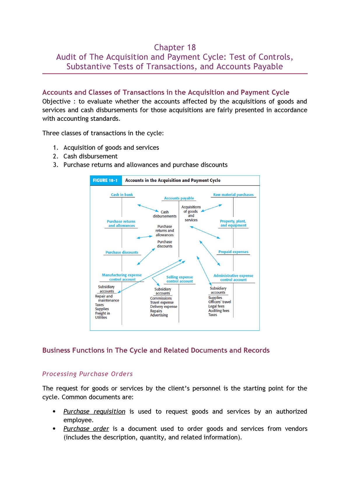 Deficiencies in purchasing cycle