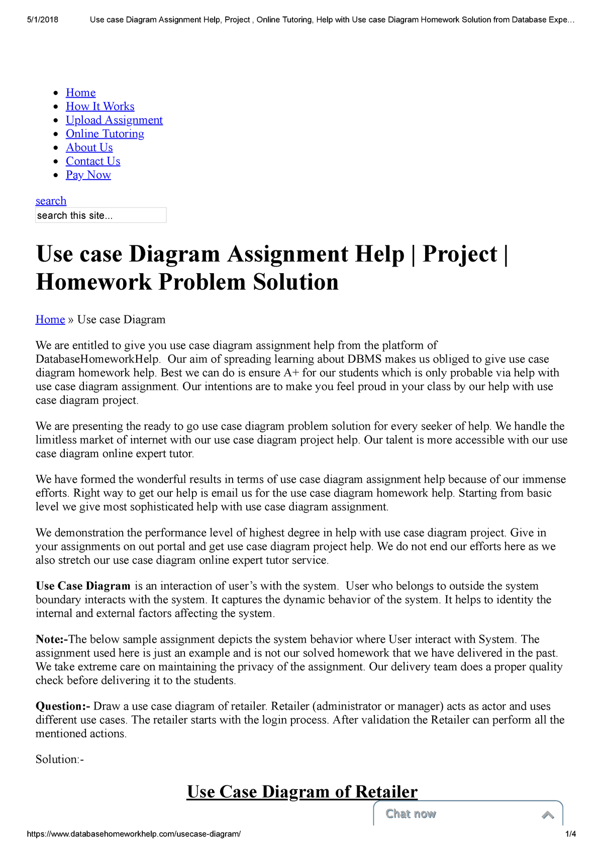 Use Case Diagram Assignment Help Project Online Tutoring