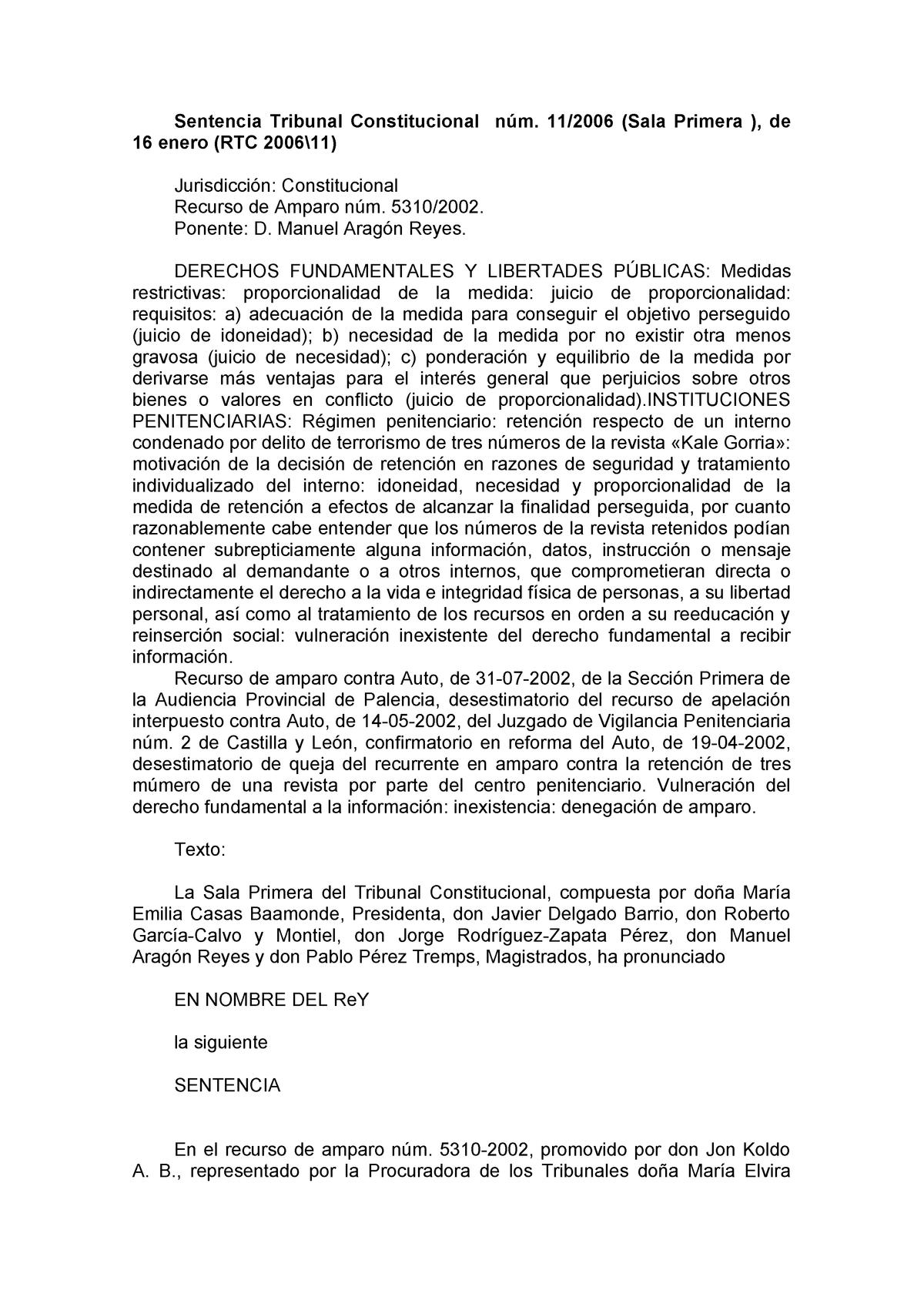 Rtc Fundamentales 200611 Libertades Studocu Derechos Y vm8NwOn0
