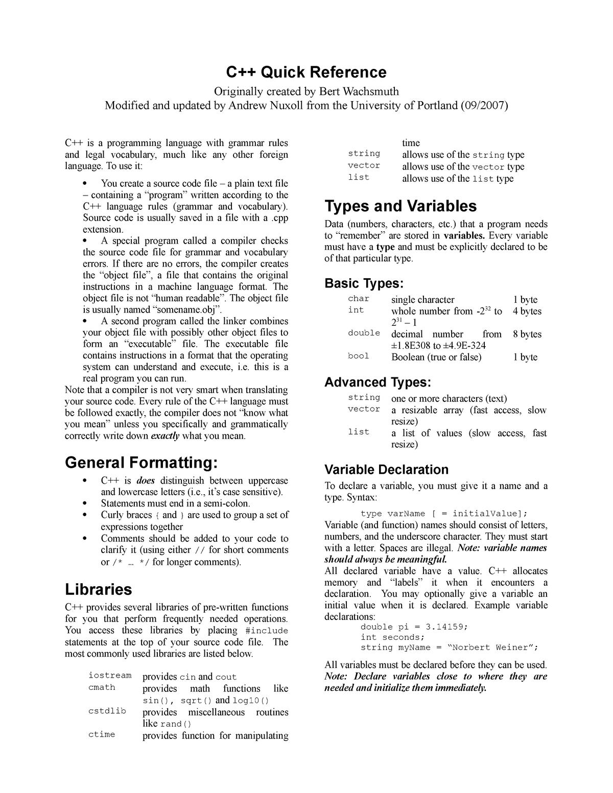 C++-Overivew - CIS 5900: Computer Information Systems