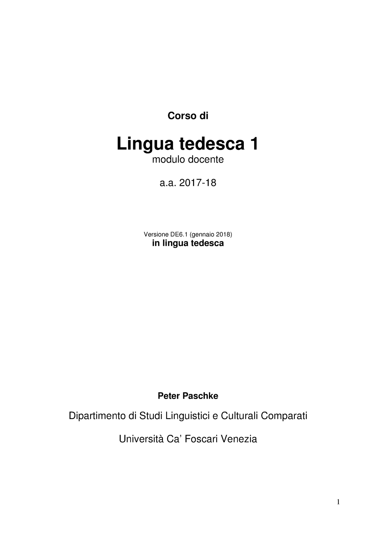 Dispensa Lingua Ted 1paschke 2017 18ver De 6 Lt0052 Studocu