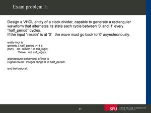 Exam 2015 - Ensc 350: Digital Systems Design - StuDocu