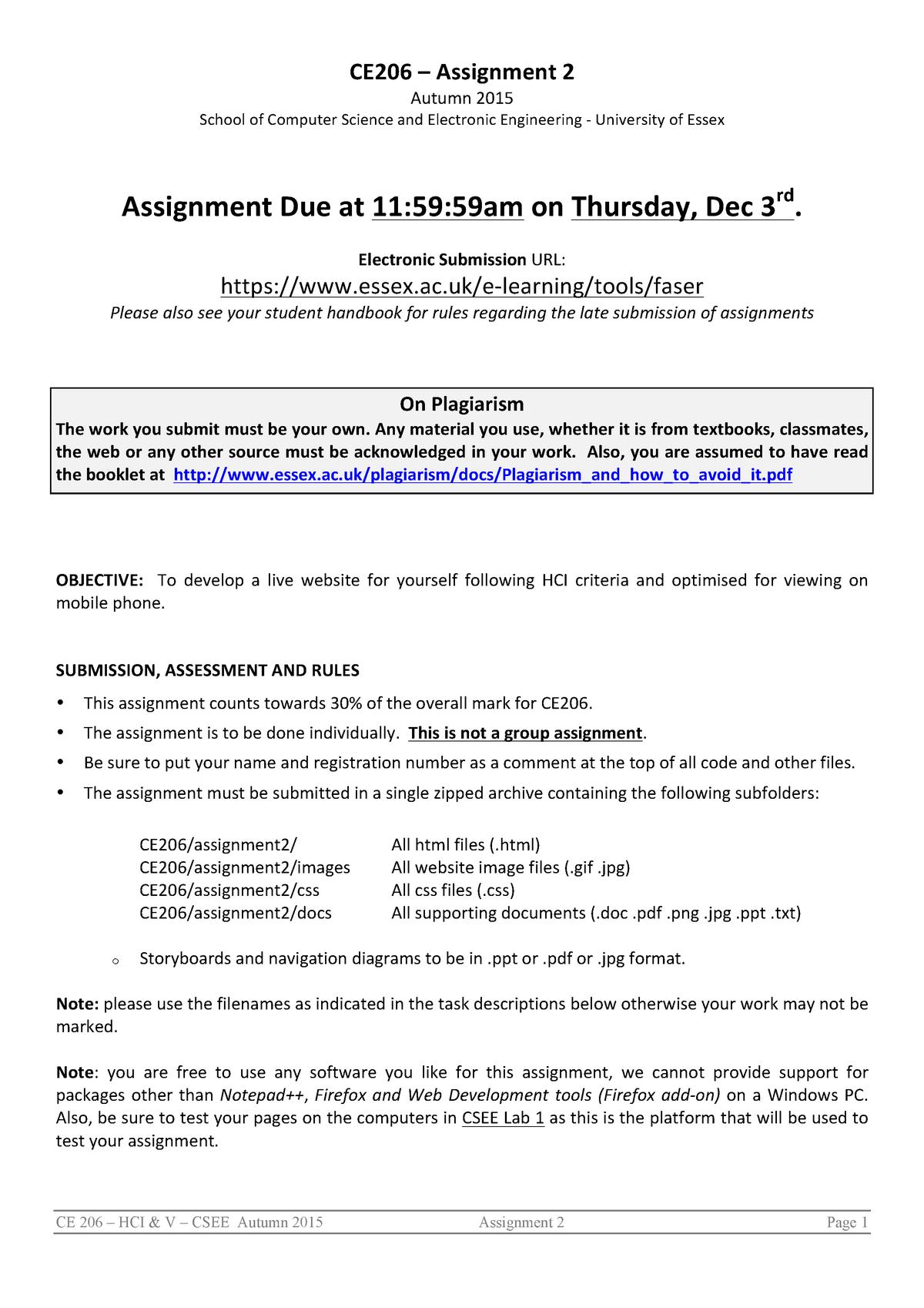 CE206 Assignment 2 - CE206-5-AU-CO: Human Computer
