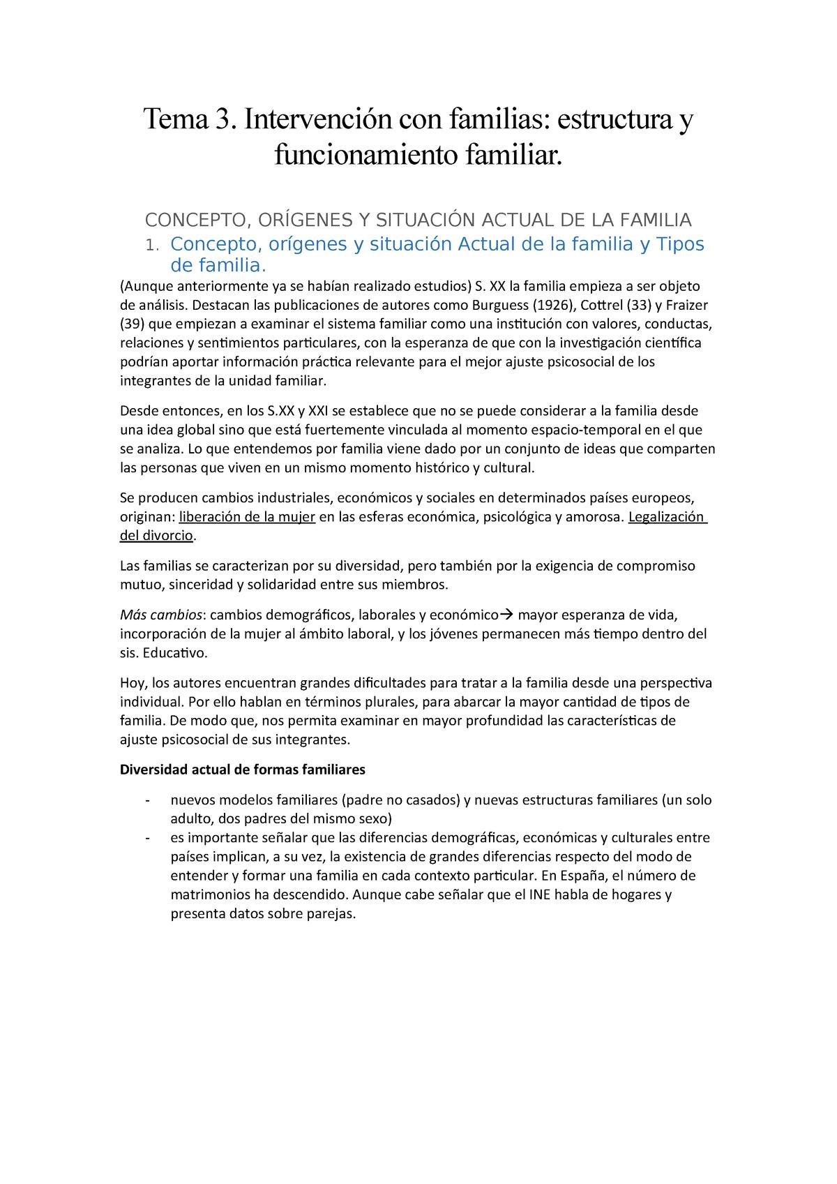 Tema 3 Apuntes Tema 3 Intervención Con Familias