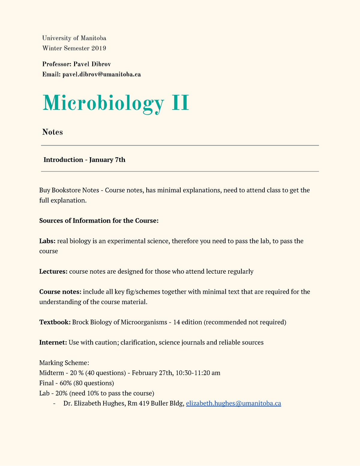 principles of microbiology lecture notes