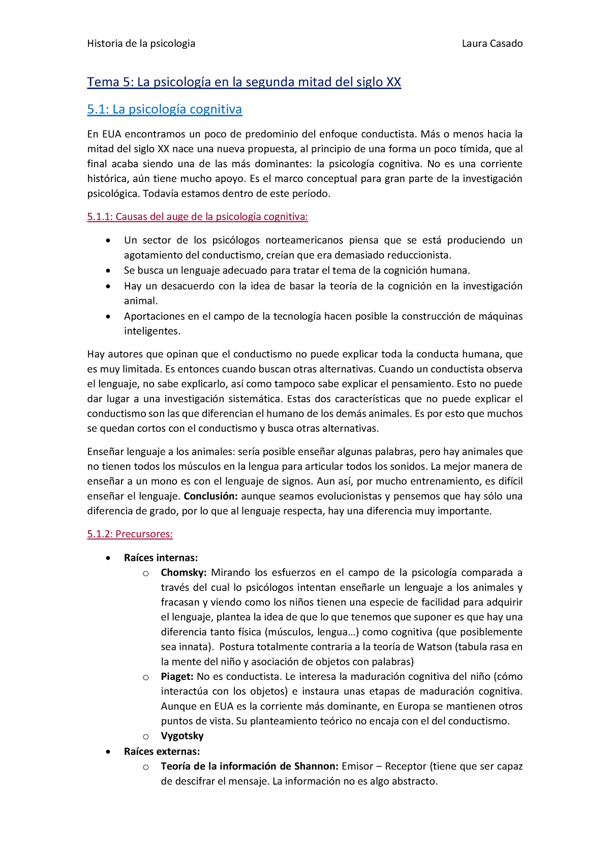cf2c28be42 Tema 5La psicología en la segunda mitad del siglo XX (COMPLETO) - Historia  de la Psicología - StuDocu