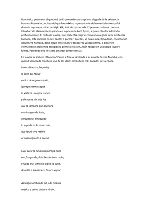 Resumen Sobre El Estudiante De Salamanca Y El Diablo Mundo Pdf