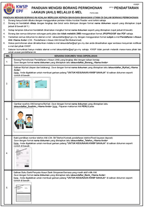 Borang Pendaftaran I Akaun Ahli Melalui E Mel Ctea3227 Studocu