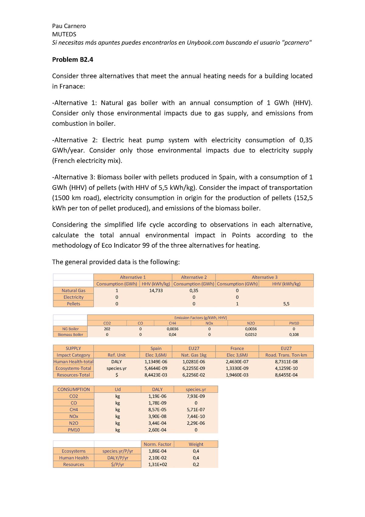 Problem B2 4 - Environmental Impact Assessment - StuDocu