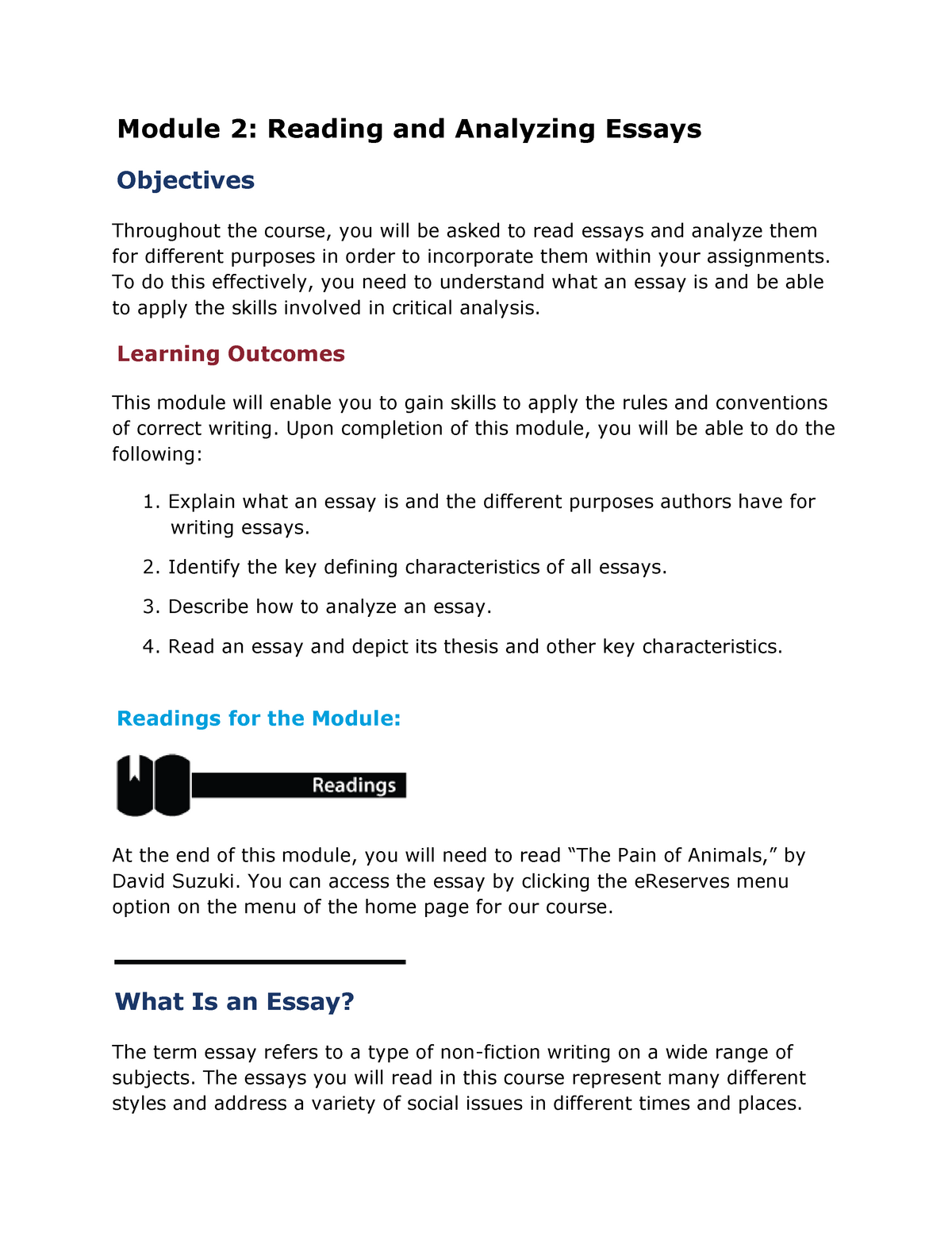 Introduction to Language and Literature - Lecture notes