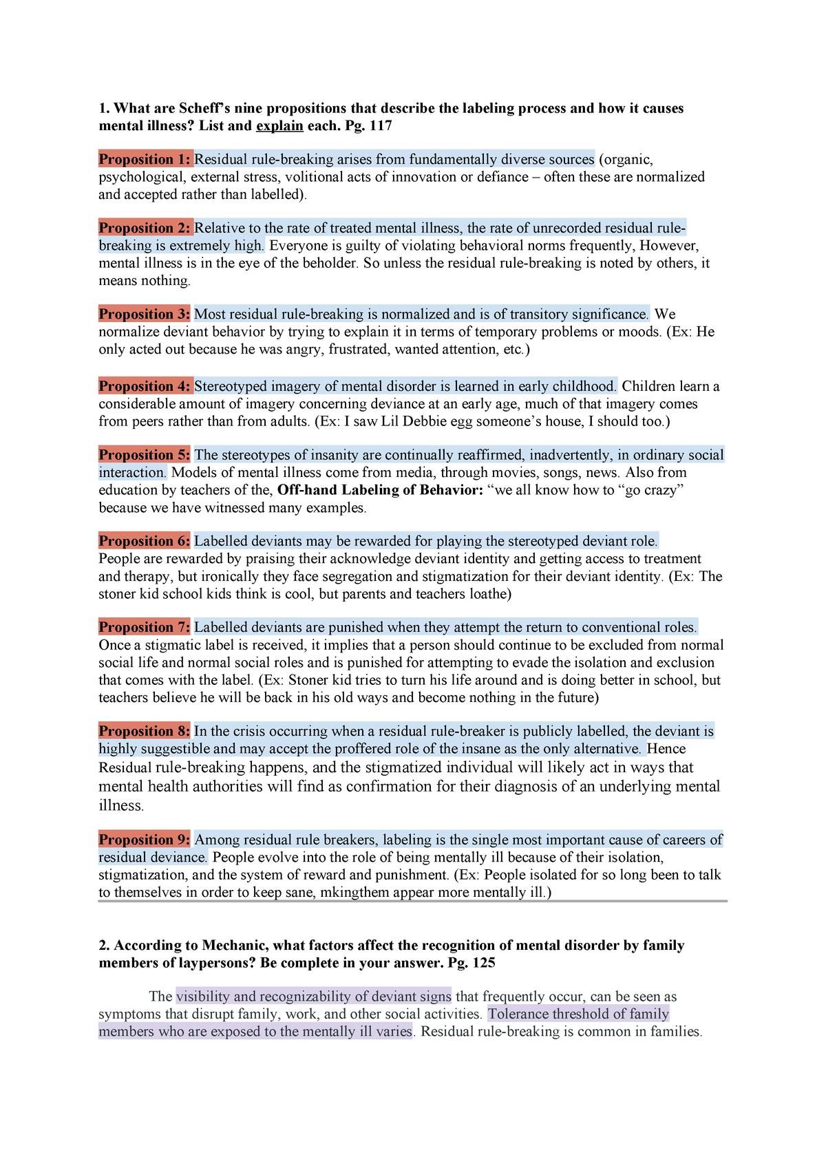 Exam 2018 - SOC 463 : Mental Health and Society - StuDocu