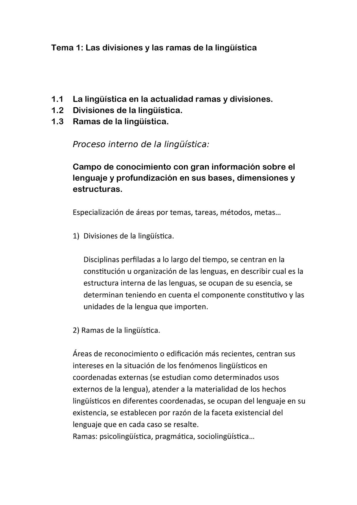 Tema 1 Disciplinas Linguisticas 790014 Uah Studocu