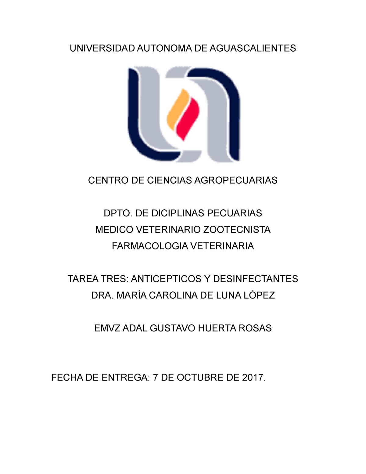 Desinfectantes Y Anticepticos Studocu
