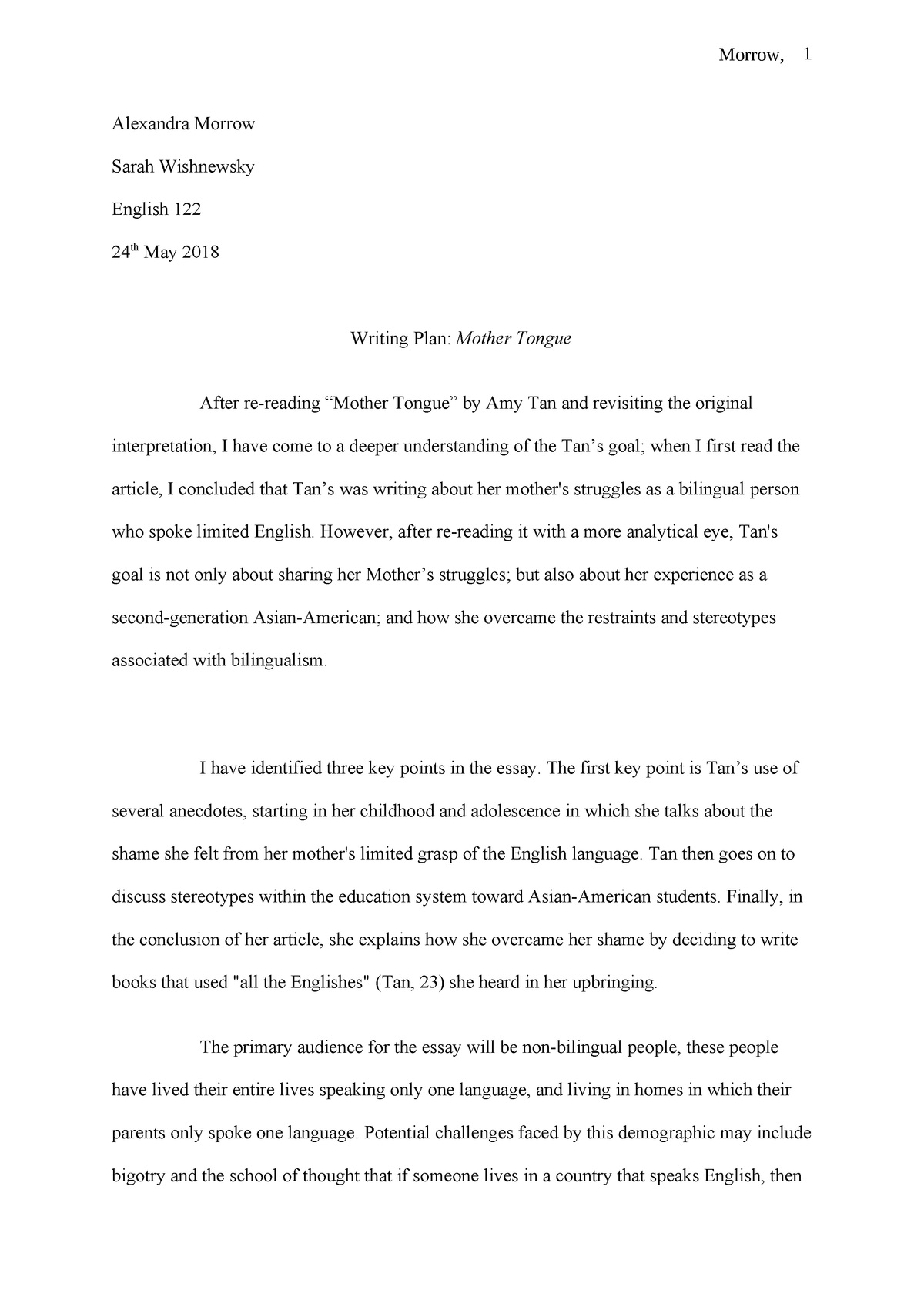 two kinds amy tan essay thesis