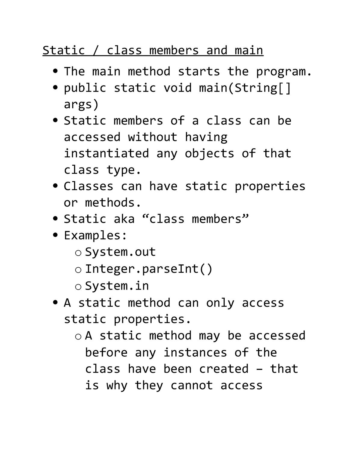 Exam 2017 - cst8284: Object oriented topics - StuDocu