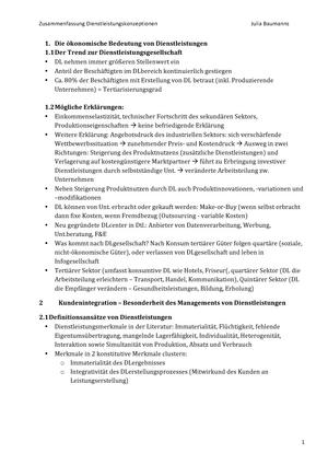 Zusammenfassung dlk dienstleistungskonzeptionen service positioning malvernweather Choice Image