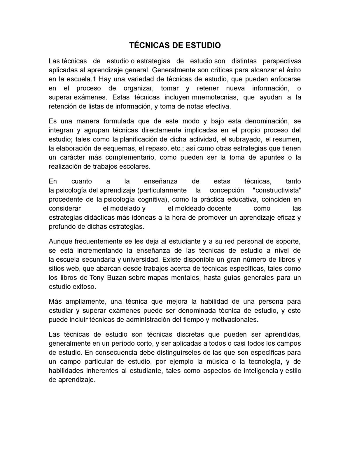 Técnicas De Estudio Y De Investigacion Laboral 12 Umg