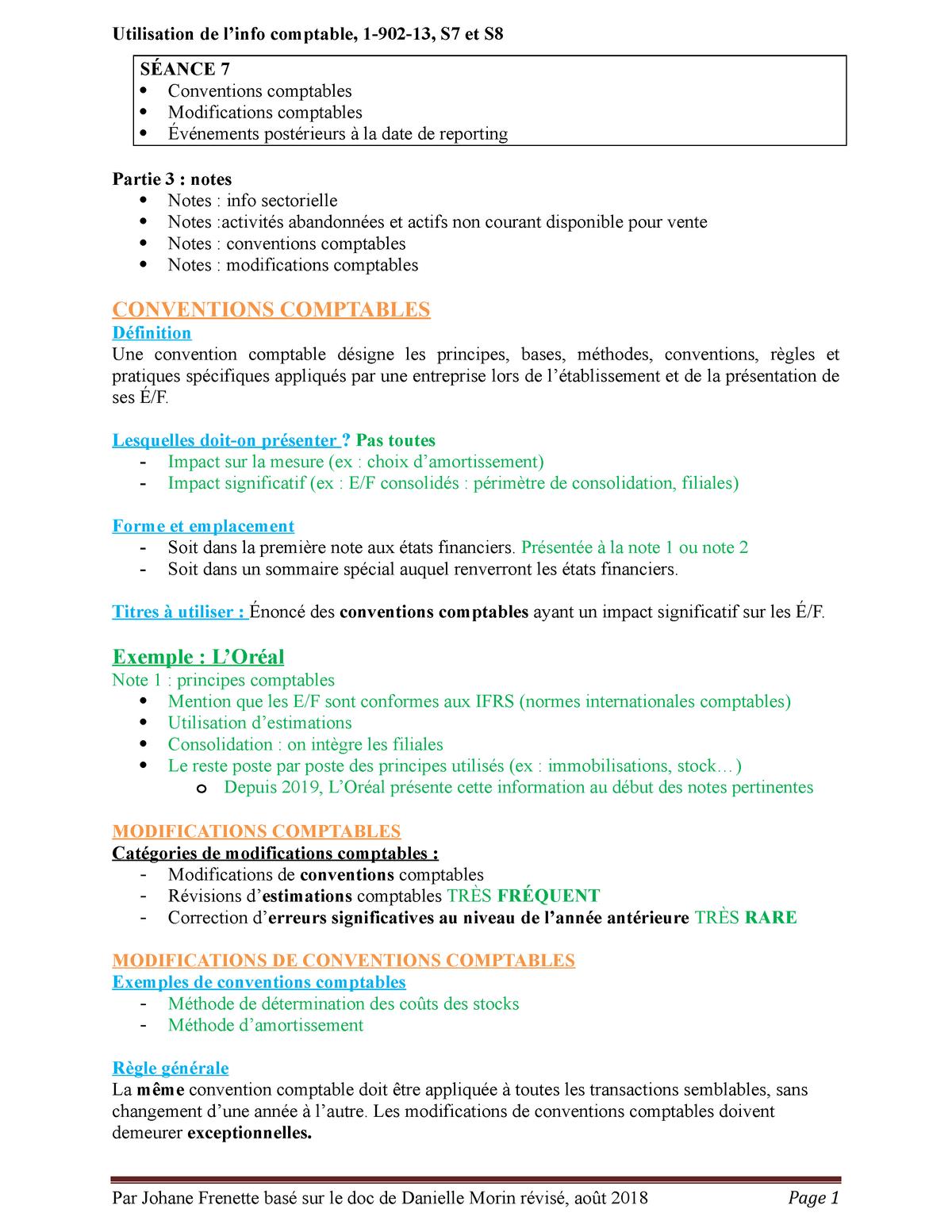 Notes S7 8 190213 Utilisation De L Information Comptable