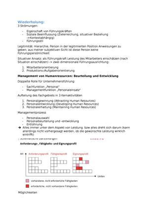 Personalbeurteilung - Grundlagen des Management