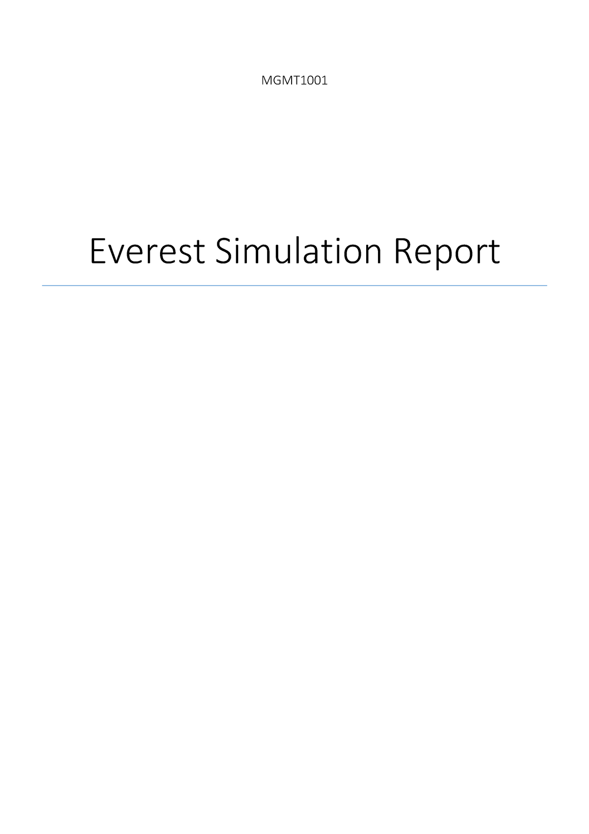 c5752e1d87 Seminar assignments - everest report - MGMT1001: Managing Organisations &  People - StuDocu