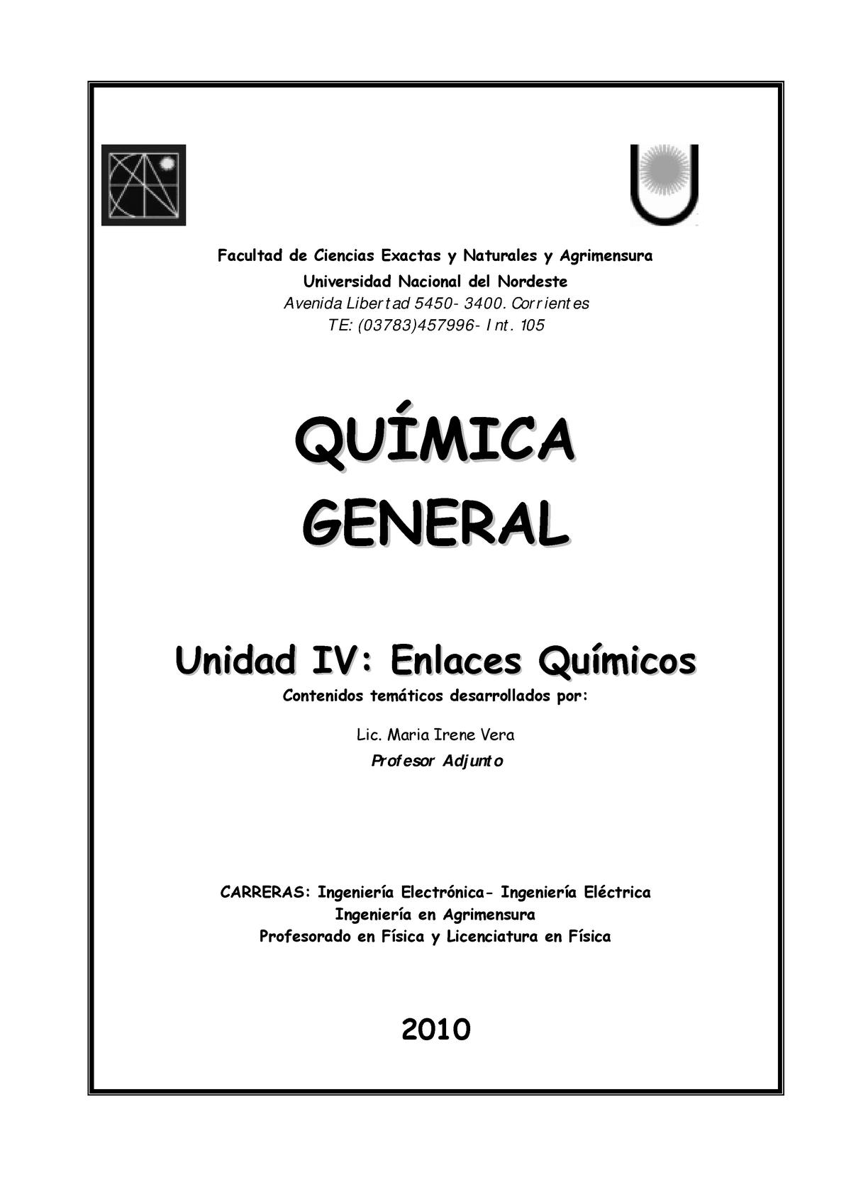 Enlaces Químicos Química Química Urjc Studocu