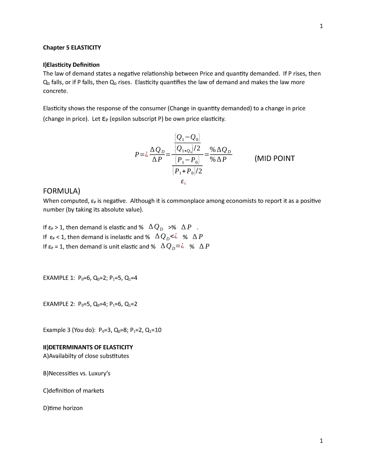 Chapter 5 Elasticity Lecture Notes 3 4 Econ201 Luc Studocu