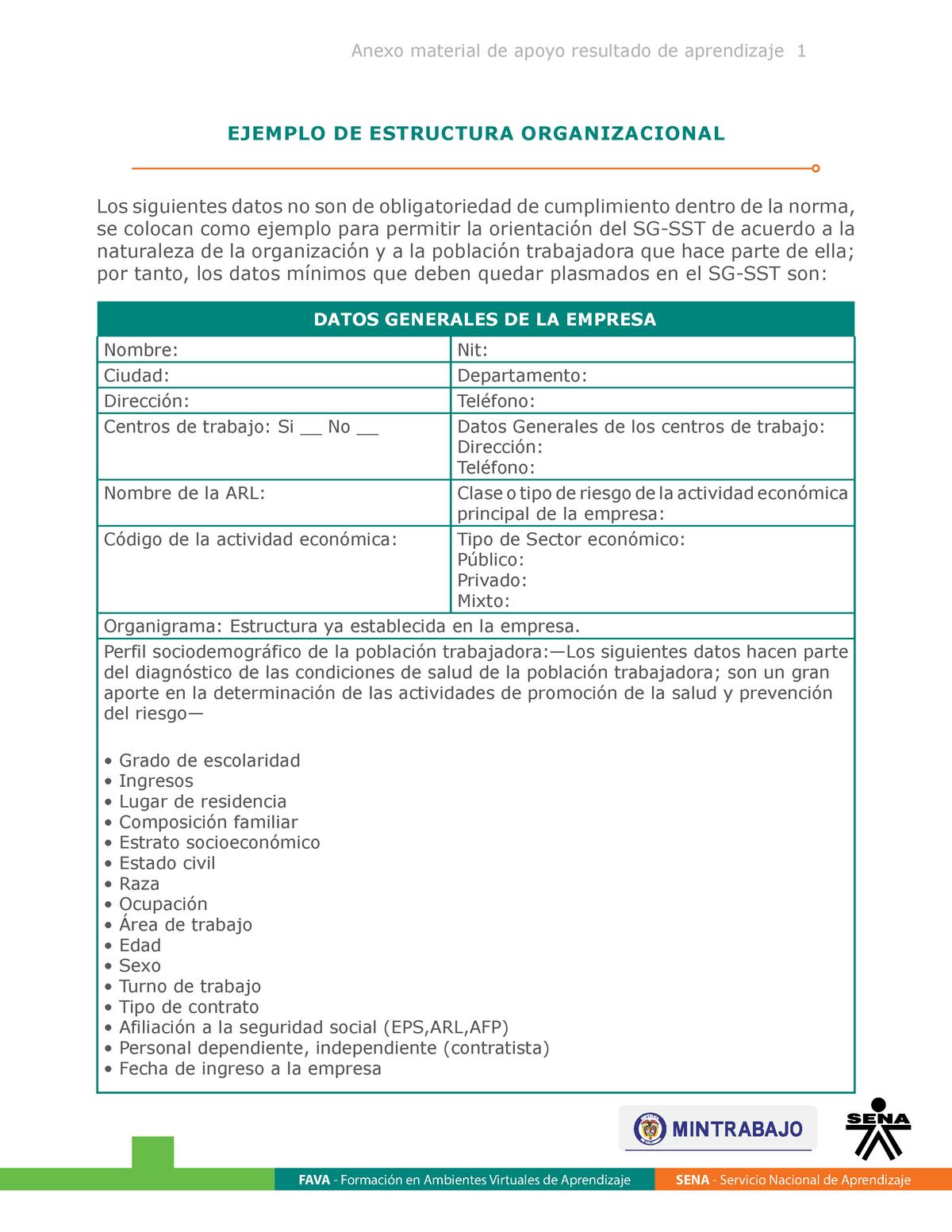 Material De Apoyo Estructura Organizacional 0701338 Ut