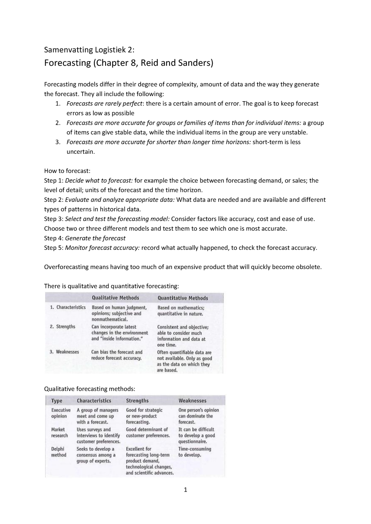 Summary Summary Reid and Sanders book chapter 8,9,10,12, - StuDocu