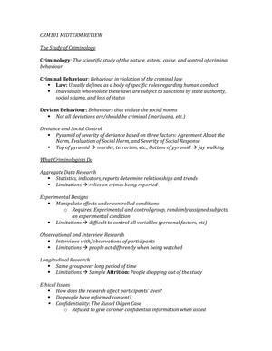 Lecture notes - Ryerson - StuDocu