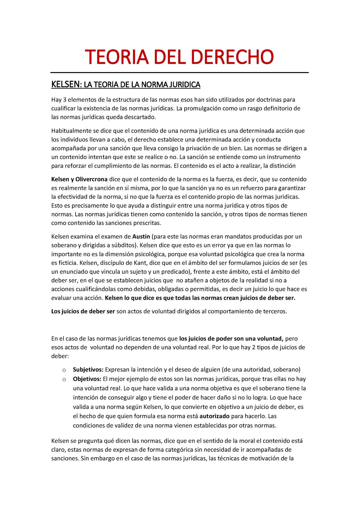 Kelsen Y Su Crítica Teoría Del Dº 13690 Uam Studocu