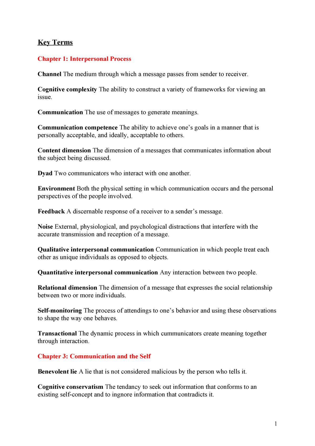 Samenvatting Interplay: the Process of Interpersonal