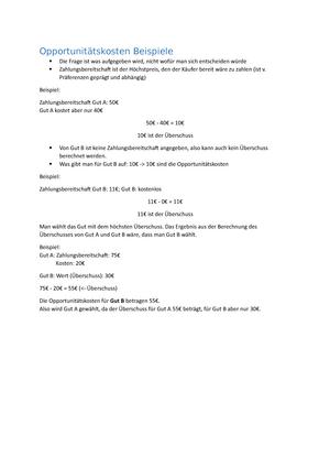 opportunitskosten opportunittskosten erklrung mit beispielen aus bungvorlesung 07 b35 1 06 01 einfhrung in die volkswirtschaftslehre studocu - Opportunitatskosten Beispiel