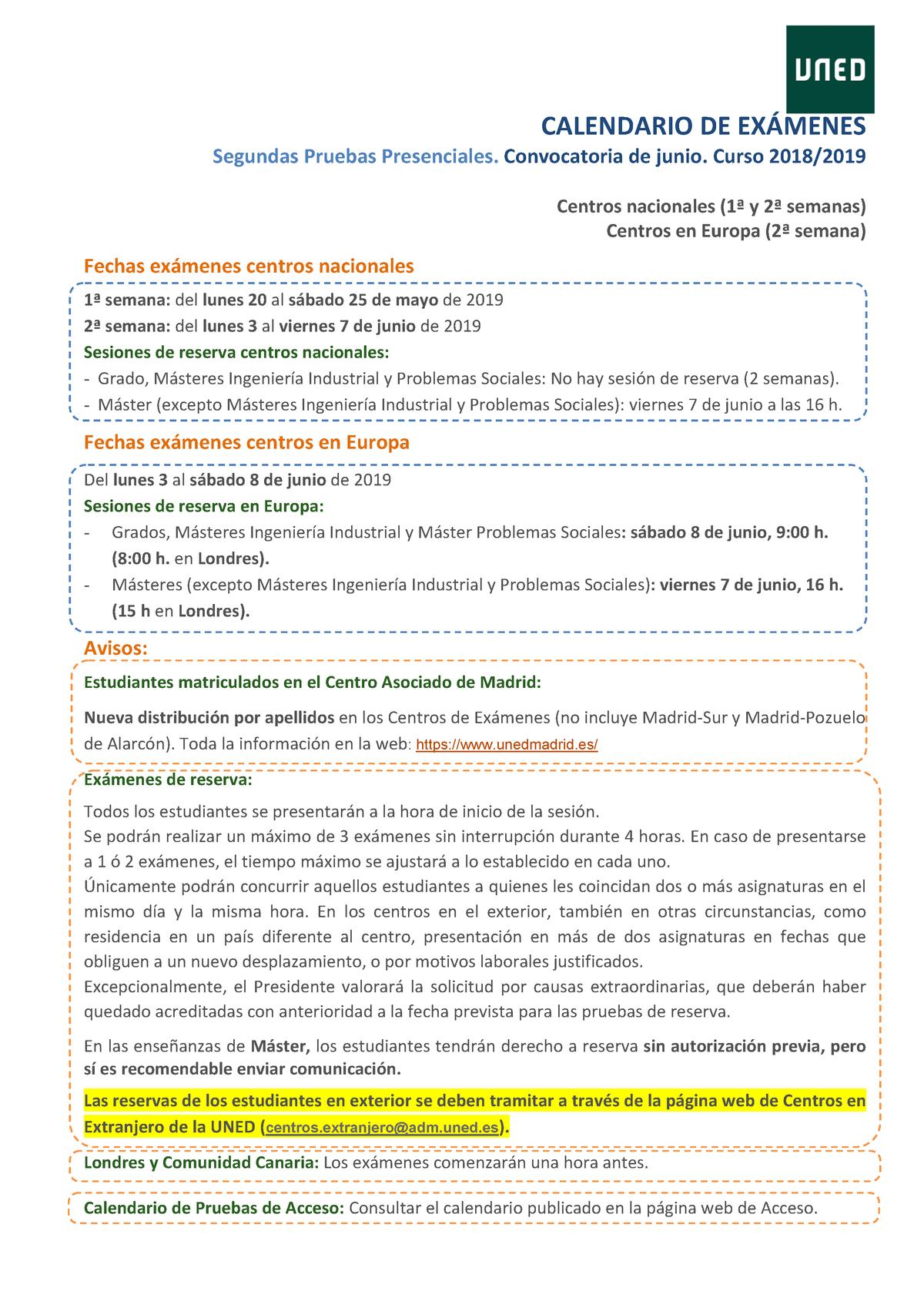 Uned Calendario Examenes.Examen 2019 Respuestas Introduccion A La Criminologia