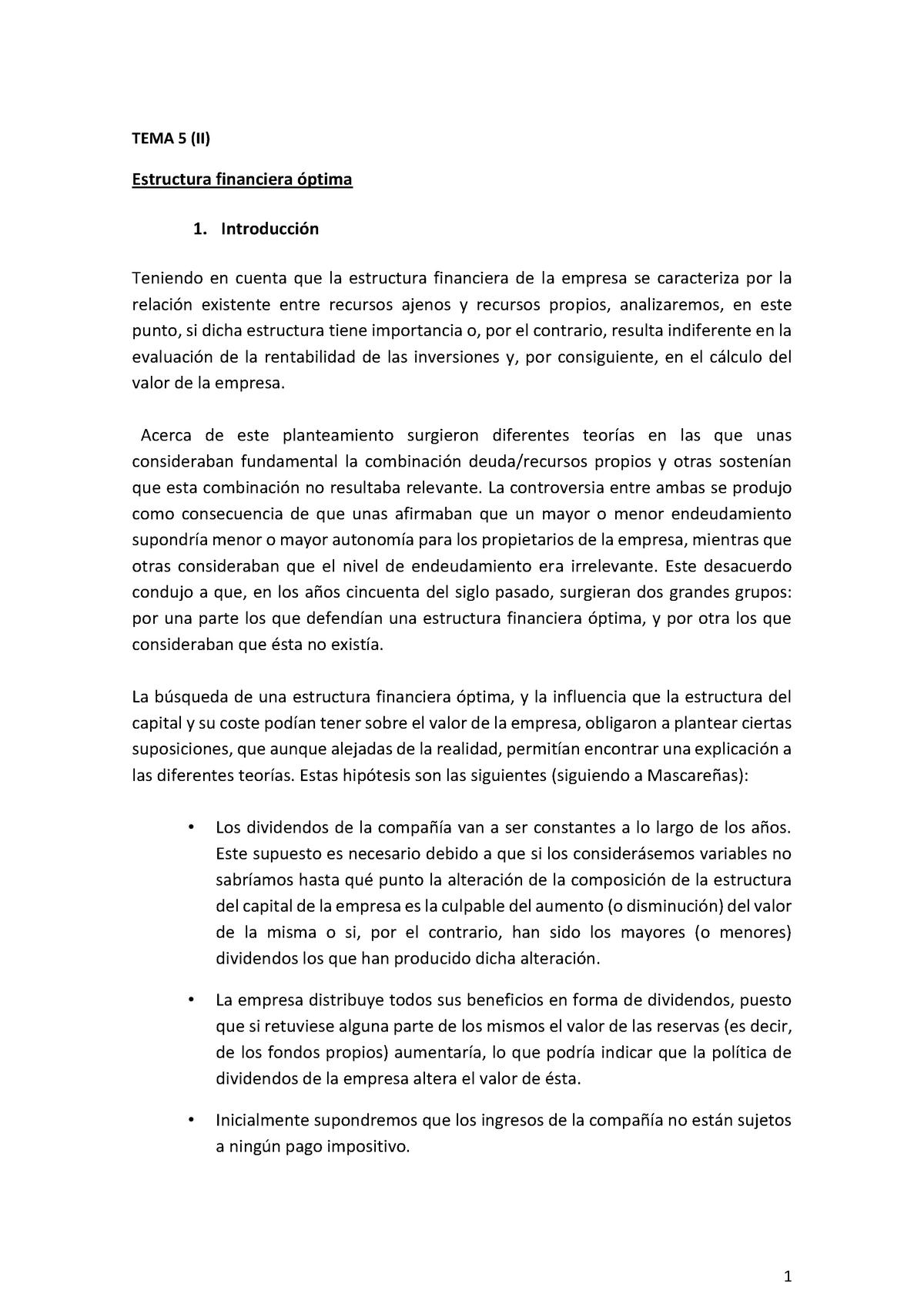 Tema 5 Ii Estructura Financiera Optima V55g020v01501