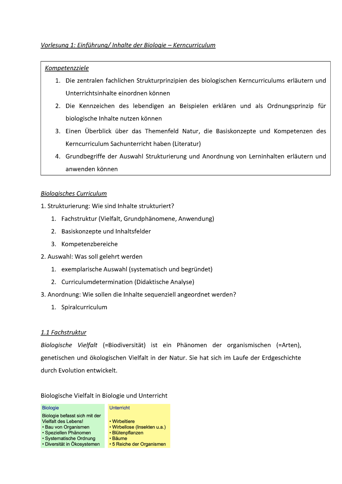 Lernzettel Biologie   StuDocu
