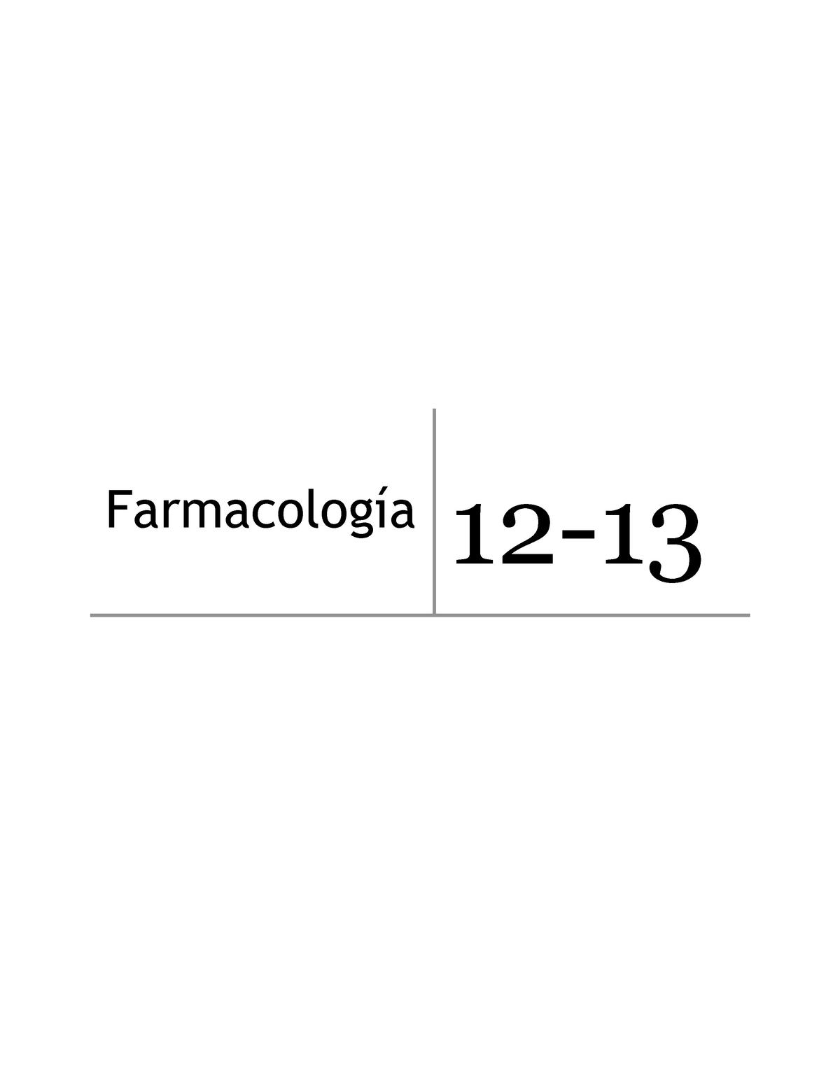 Farmacologia Farmacología General Uex Studocu