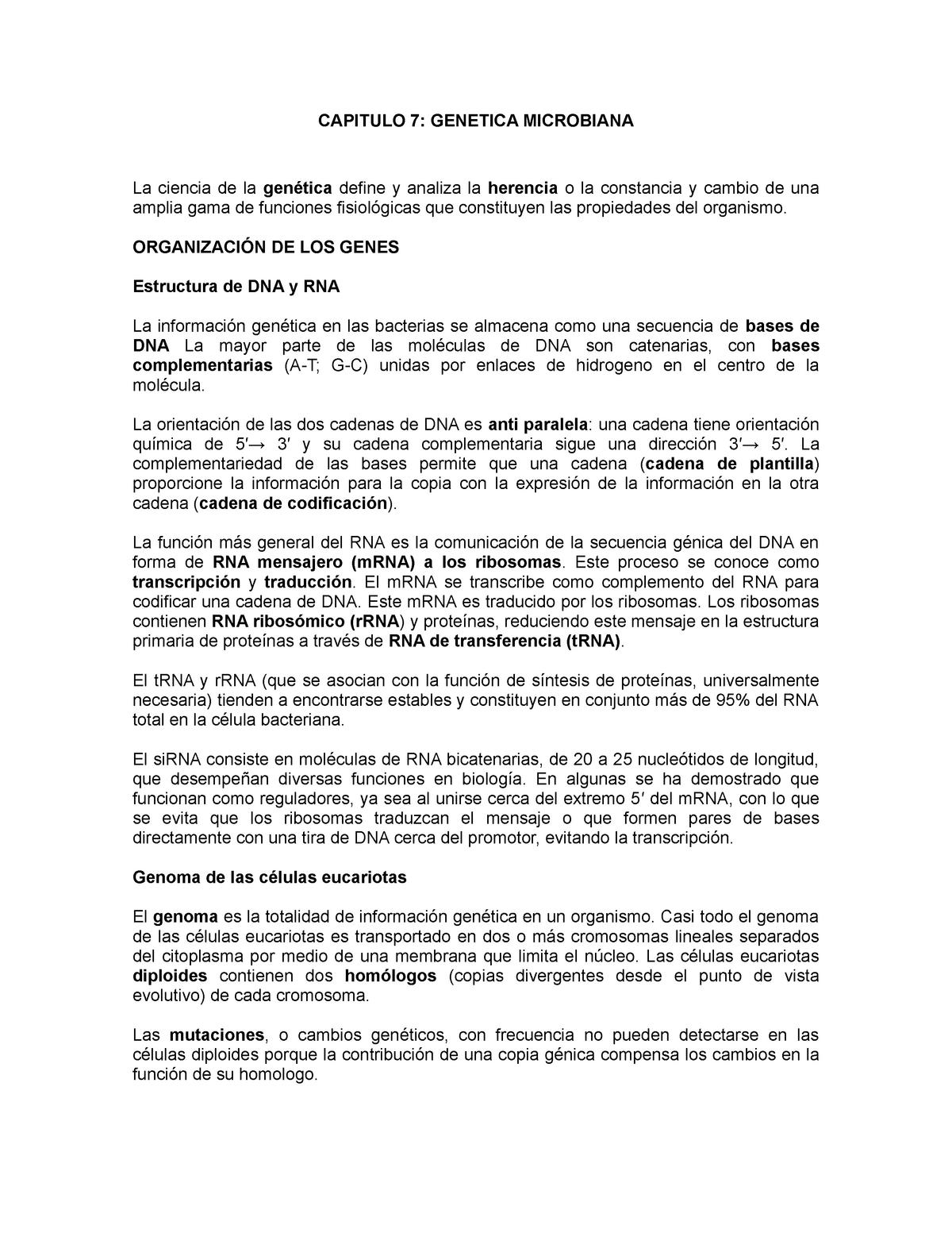 Capítulo 7 Genética Bacteriana Patología Infecciosa 175251