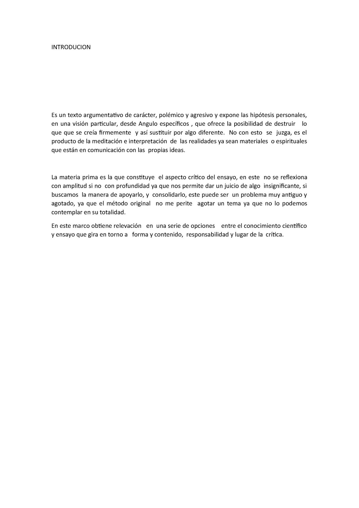 Introduction sentences