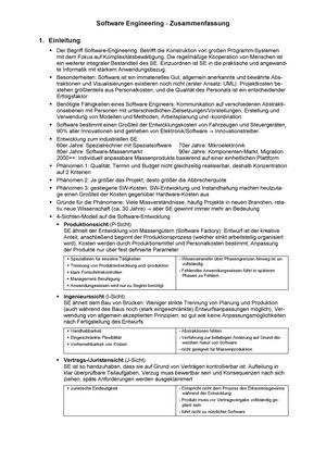 Software Engineereing - Zusammenfassung - Informatik