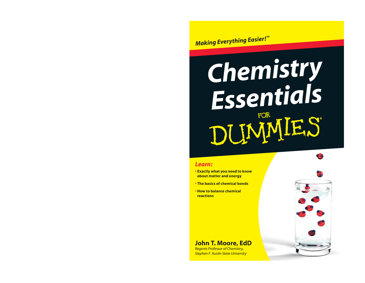 Chemistry for dummies - Important - Phyc241 - Ox - StuDocu