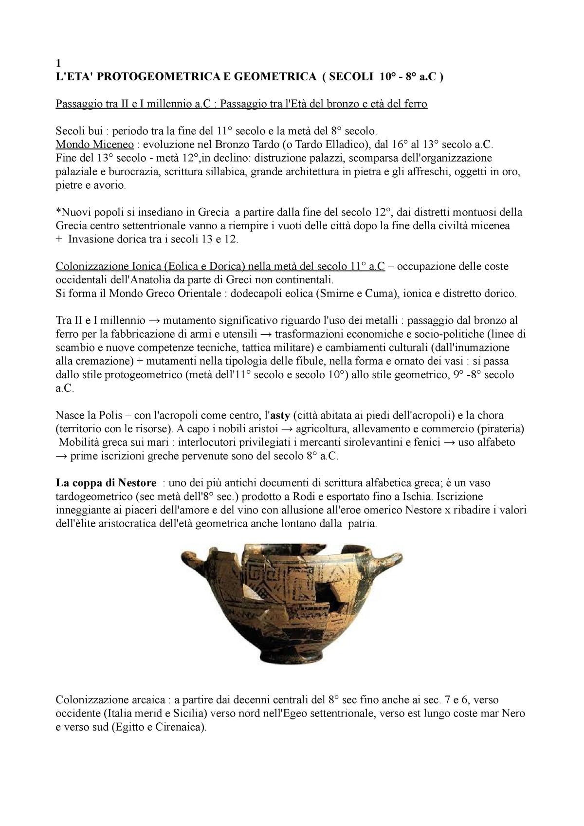 Decorazioni Dei Vasi Greci.Archeologia E Storia Dell Arte Greca Bejor 17183 Unipa Studocu